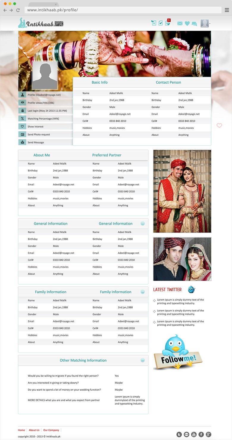 Intikhaab Html Profile